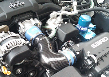 CARBON INTAKE PIPE TYPE-II 装着写真